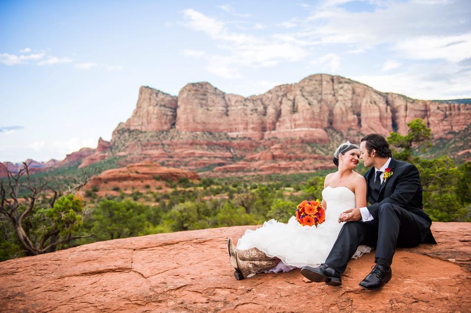 brand new b17c4 02d85 Wedding on top of the world in Sedona Arizona